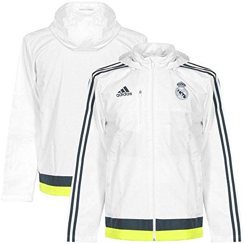 adidas Herren Real Madrid Travel Jacke, White/Deespa/SYELLO, L