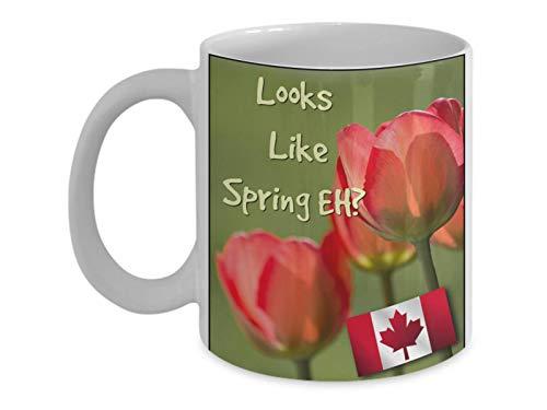 Mike21Browne Sieht wie kanadischer Fr¨¹Hling wie lustige und inspirierende Kaffeetasse aus, die das Blumen-wachsende Fr¨¹hjahr feiert