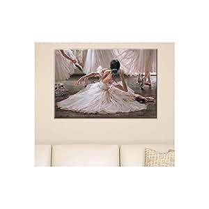 Tableau Peinture Ballerine 60 x 100 cm - Deco Soon