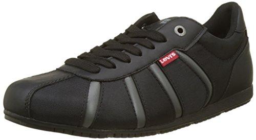 Levi's Herren Almayer-k Sneaker, Schwarz (Brillant Black), 42 EU