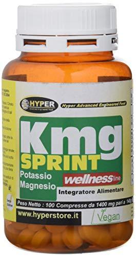 KMG SPRINT Integratore di Magnesio e Potassio, 100 Compresse 140 gr