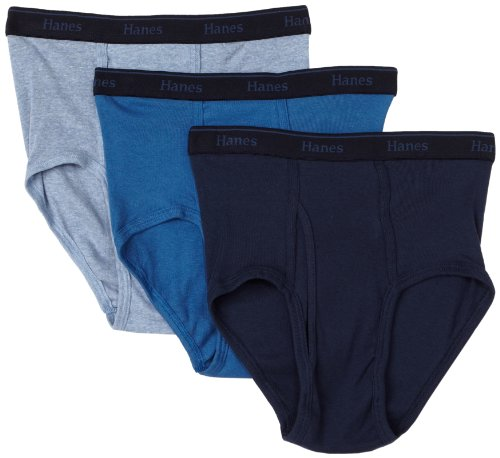 Hanes Herren Classics Full Rise Brief 3er Pack - Mehrfarbig - Large -