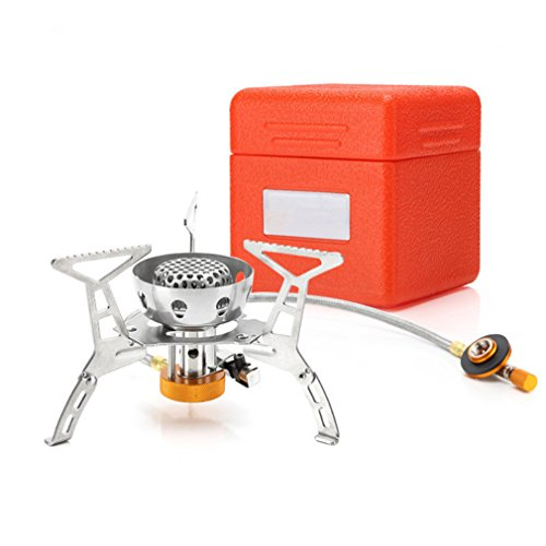 41B3o6Vt2vL. SS500  - BrilliantDay Outdoor Portable Foldable Steel Windproof Gas Stove BBQ Burner Mini Camp Hiking Picnic Case Cookware (3200W, with piezo ignition)