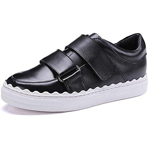 SONGYUNYANLe donne europee e americane casual interno ed esterno in pelle profonda bocca piatti mocassini / Sneakers Flatform , black , 39