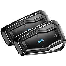 CARDO - Juego de auriculares doble Scala Rider FREECOM 4 para motocicleta, con Bluetooth