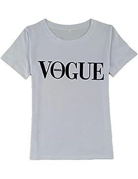 Juqilu Verano de las mujeres camiseta de manga corta de impresión de la letra de la blusa de las señoras del lema...