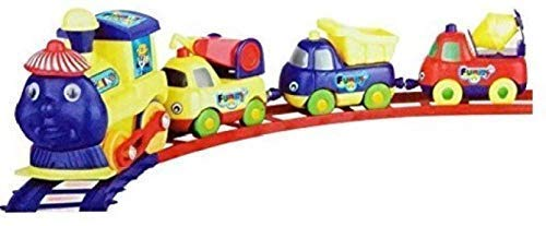 Hatke Dukan Cartoon Train with Magnetic Connect Coach for Children (Multicolour)