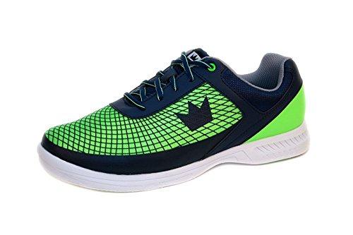Brunswick Bowlingschuhe Frenzy Navy Green, Größe:43.5;Farbe:Blau/Grün