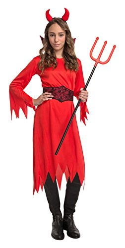 My Other Me Me-204217 Disfraz de diablesa para niña, 7-9 años (Viving Costumes 204217