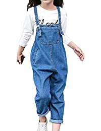 b29f663d4bd GladiolusA Kids Girls Denim Dungarees Playsuit Jumpsuit Pinafore Long Jeans  Bib Overalls All in One