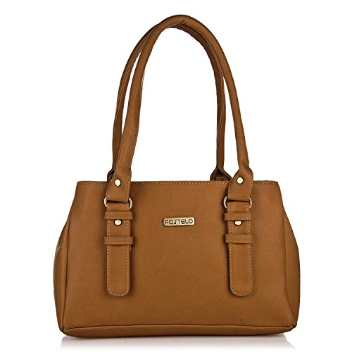 Fostelo Women's Handbag (Tan,Fsb-551)
