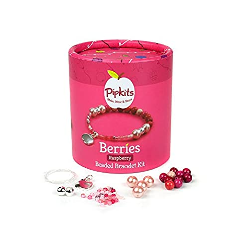 Pipkits Berries Beaded Bracelet Jewellery Making Kit in Raspberry