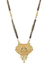 Handicraft Kottage Gold Plated Mangalsutra for Women (Golden) (hk-amg-521)