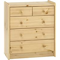 Steens Kids 2+3 Pine Chest of Drawers, Natural Lacquer Finish