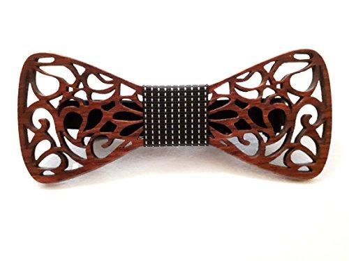 [Garantierter Effekt!] Handgefertigte Holzfliege - Schicker Look - Dandy - Weitere Farben erhältlich / Größenverstellbar