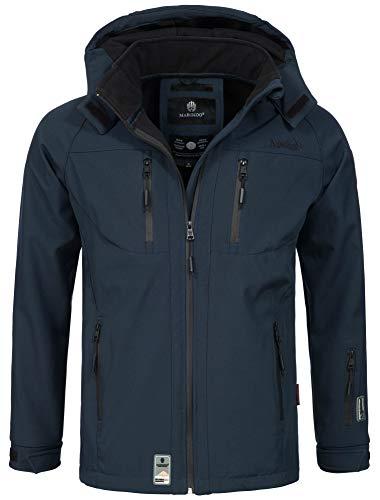 Marikoo Herren Softshell Funktions Outdoor Ski Regen Winter Jacke Sport B630 [B630-Noa-Navy-Gr.XL]