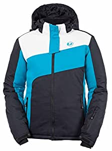 Ultrasport Damen Ski Jacke Kitzbühel, türkis/weiß/schwarz, XS, 10370