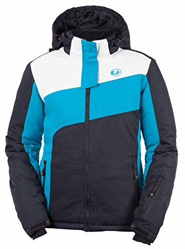 Ultrasport Damen Ski Jacke Kitzbühel, türkis/weiß/schwarz, L, 10373