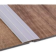 Perfil de transición GedoTec sobre el carril de suelo de perfil de aluminio plano de autoadhesivo