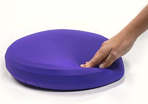 RÜCKEN Haltungskissen (mit Kissenhülle) |Training zur Verbesserung der Rumpfstabilität | Wackel Gleichgewichtskissen | Rückenschmerzen vermindern (Violett)