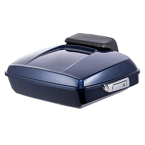 ac06d74aa493a Advan black Razor Tour Pak Pack Trunk Luggage with Chopped Backrest Fit For  Harley Davidson Touring