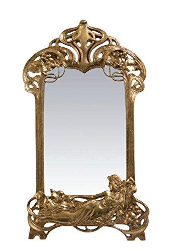 Deko Tischspiegel Spiegel Antik Verziert Polyresin 49,8 cm Jugendstil