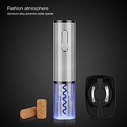 Korkenzieher-Elektrische-Flaschenffner-WeinffnerTOQIBO-Kapselschneider-fr-Weinflaschen-mit-geliefert-USB-LadekabelSilber