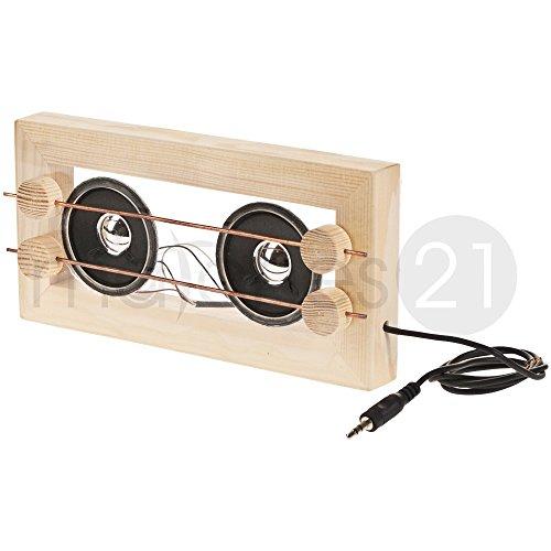 matches21 MP3 Stereolautsprecher Acrylglas Bausatz f. Kinder Werkset Bastelset ab 12 Jahren