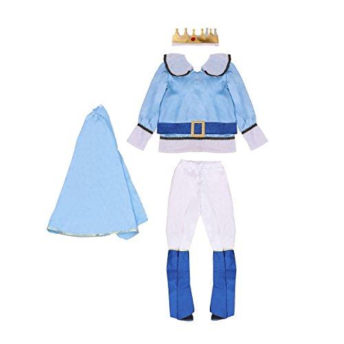 BESTOYARD Halloween-Cosplay-Kostüm für Jungen, Prinz-Kleidung, Kinder-Kostüm, Party-Kleidung, Größe XL