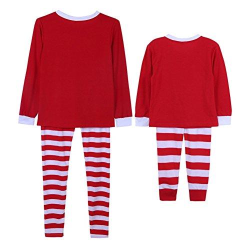 amas, Doubleer Langarm Nachtwäsche Homewear Kostüm Outfits für Weihnachten festlich ()