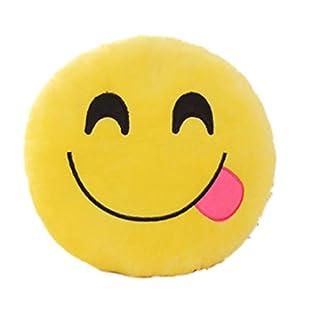 A4TECH Emoji Plush Cushion Emoticon Cute Soft Stuffed Comfortable Plush Cushion Pillow Soft Toy for Kids Girls Birthday Novelty Gift by TheBigThumb