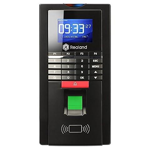 Soter de sécurité ® Realand MF131Smart Bio d'empreintes digitales Mot de passe Temps Colock Enregistreur de présence biométrique TCP/IP Noir