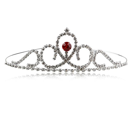 Pixnor Mariage strass cristal fille Headband Pageant Princess Crown