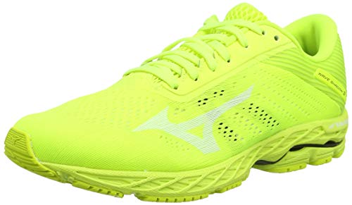 Mizuno Wave Shadow 3, Zapatillas de Running para Hombre, Amarillo (Safety Yellow/White/Safety Yellow 2), 43 EU