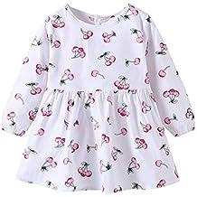 Oliviavan,Vestidos Niño pequeño bebé niñas Trajes de Vestir de Princesa de Estampado de Cerezas