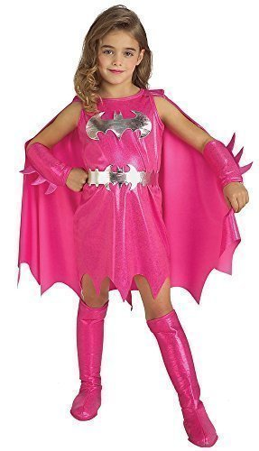 C Comics pink Batgirl Batman Halloween büchertag Kostüm Kleid Outfit 1-6 Jahre - Rosa, Rosa, 5-7 Years (Batman-batgirl Kostüme)