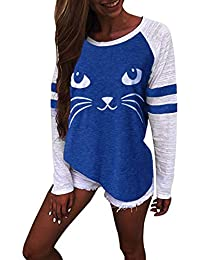 Auifor Frauen Plus Size Solid Color Run Langarmbluse Pullover Tops Shirt