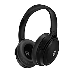 Bluetooth Headphones Over Ear TaoTronics Noise Canceling Headphones ANC Headset 25 Hours Built-in Micro CVC 6.0 Deep Bass Dual 40 mm woofers