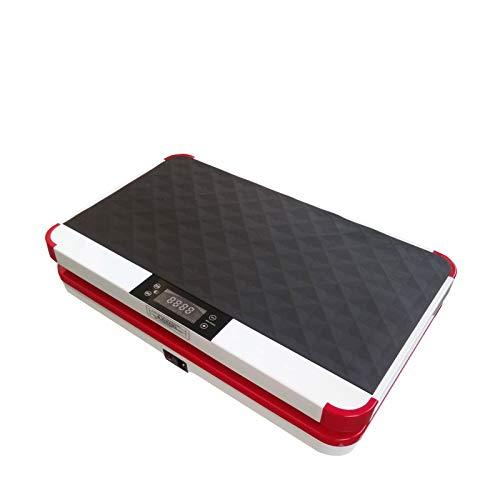 VibroSlim Unisex- Erwachsene VSU010 Vibrationsplatte Fitness, Rot, L 61.5cm x B 37.5cm x H 14.2cm