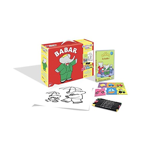Babar - je m'eveille avec...(DVD+Puzzle+6 Crayons pastels+Poster)