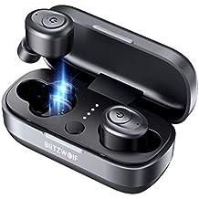 Mini Auriculares Bluetooth, BlitzWolf Último Bluetooth 5.0 Mini Auriculares Inalambricos Auriculares Wireless Sonido Estéreo de