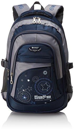 Leefrei Schulrucksack Schulranzen Schultasche Sports Rucksack Freizeitrucksack Daypacks Backpack für Mädchen Jungen & Kinder Damen Herren Jugendliche mit der Großen Kapazität (Vintag-Blau) (Fach-schule-rucksack)