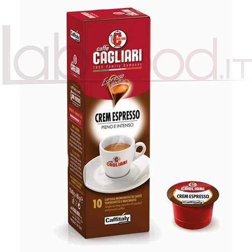 CAPSULE CREM ESPRESSO CAGLIARI - BOX 10 CAPS. CAFFITALY SYSTEM