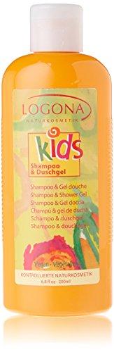 LOGONA Naturkosmetik Shampoo & Duschgel, Reinigt Haut und Haar besonders sanft, Rückfettung der Haut, Vegan, 200ml