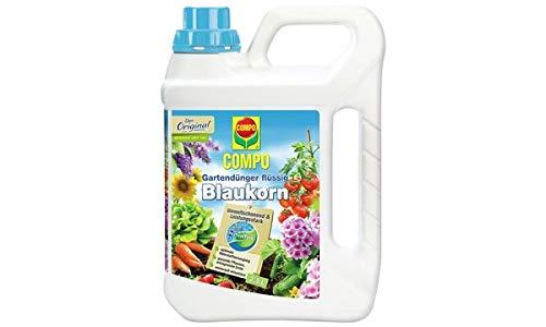 COMPO Gartendünger Blaukorn NovaTec flüssig, 2,5 Liter, Sie erhalten 1 Packung -