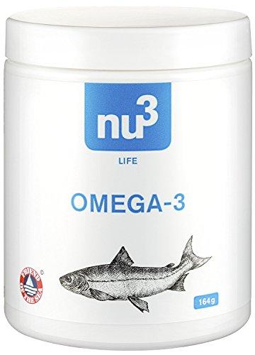 nu3 Omega 3 Kapseln – 120 Kapseln – Dose reicht für 4 Monate – extra viel Omega-3 pro Tagesdosis – 700mg Omega-3-Fettsäuren pro Fischölkapsel – 400 mg EPA und 200 mg DHA – aus nachhaltiger Fischerei