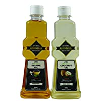 AMOGHA Cold Pressed 500ML Coconut + 500ML Sesame Oil