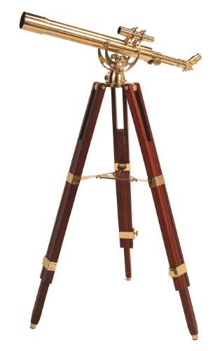 Mahagoni Stativ (Helios Fine Brass 60700 (28x Vergrößerung) Messing Teleskop gold)