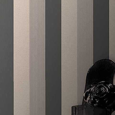 Superfresco Java Stripe Textured Charcoal Wallpaper 18945