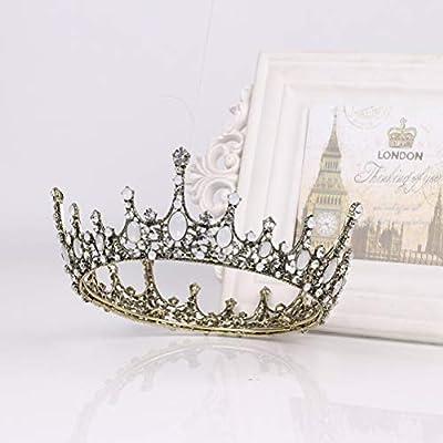 BESTOYARD Vintage Baroque Crystal Princess Rhinestone Tiara